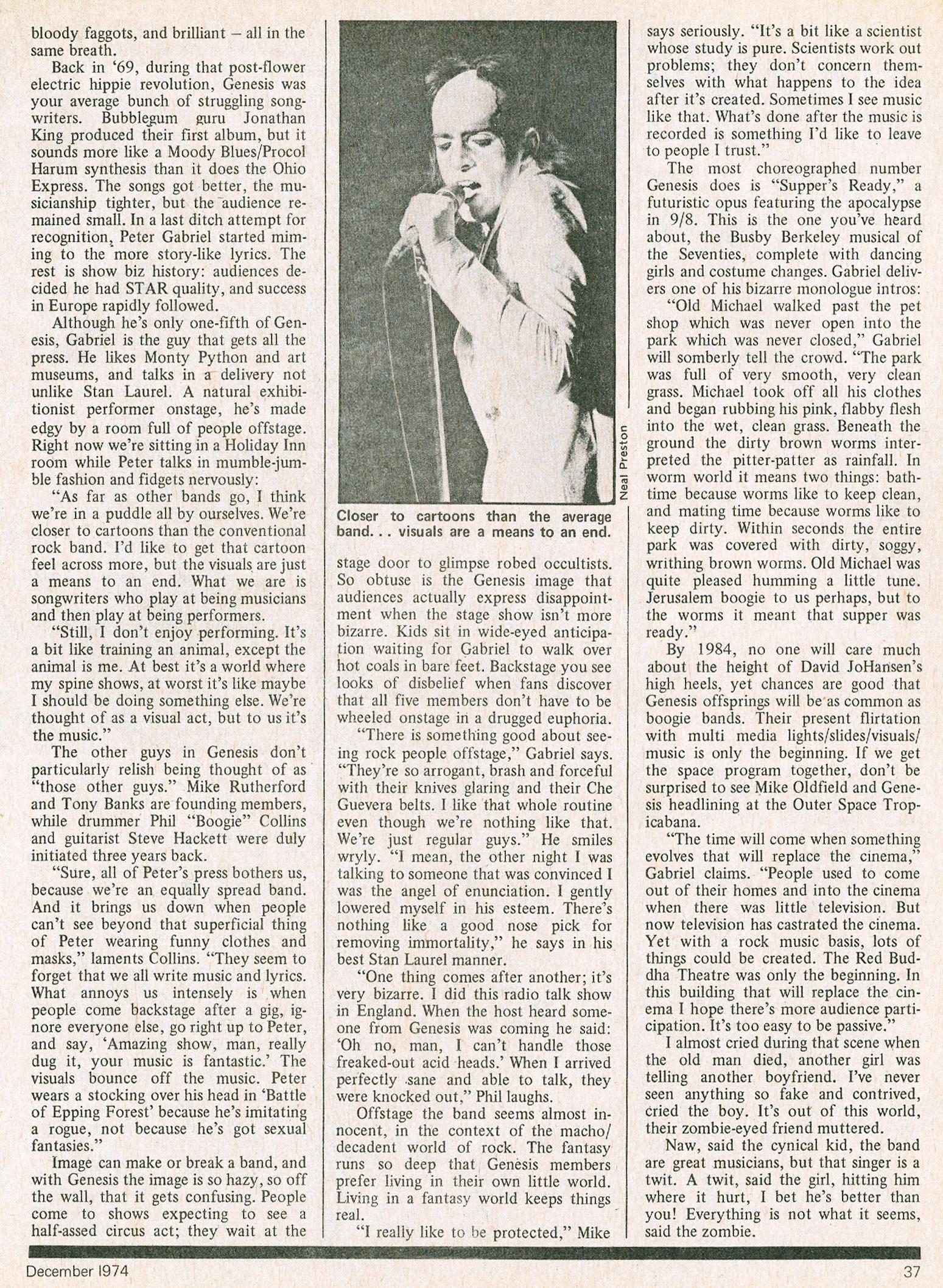 CREEM Magazine JULY 1974 Stones Rick Derringer Black Sabbath Steve Miller Jagger
