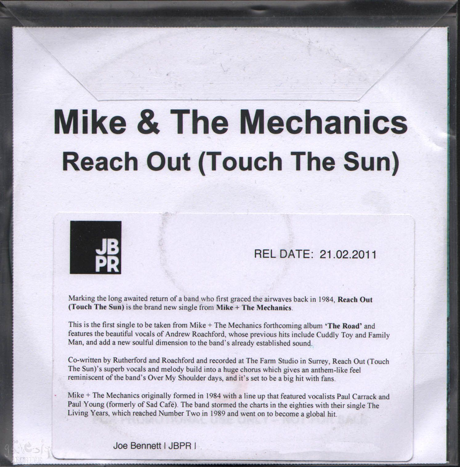 Out and touch the sun mike and the mechanics promo single