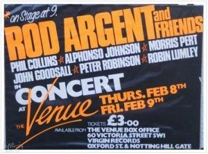 Rod Argent and Friends Venue 1979 poster