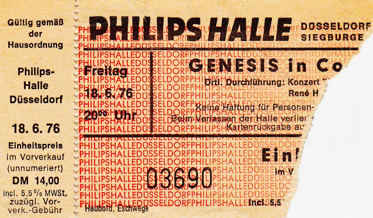 genesis ticket dusseldorf: