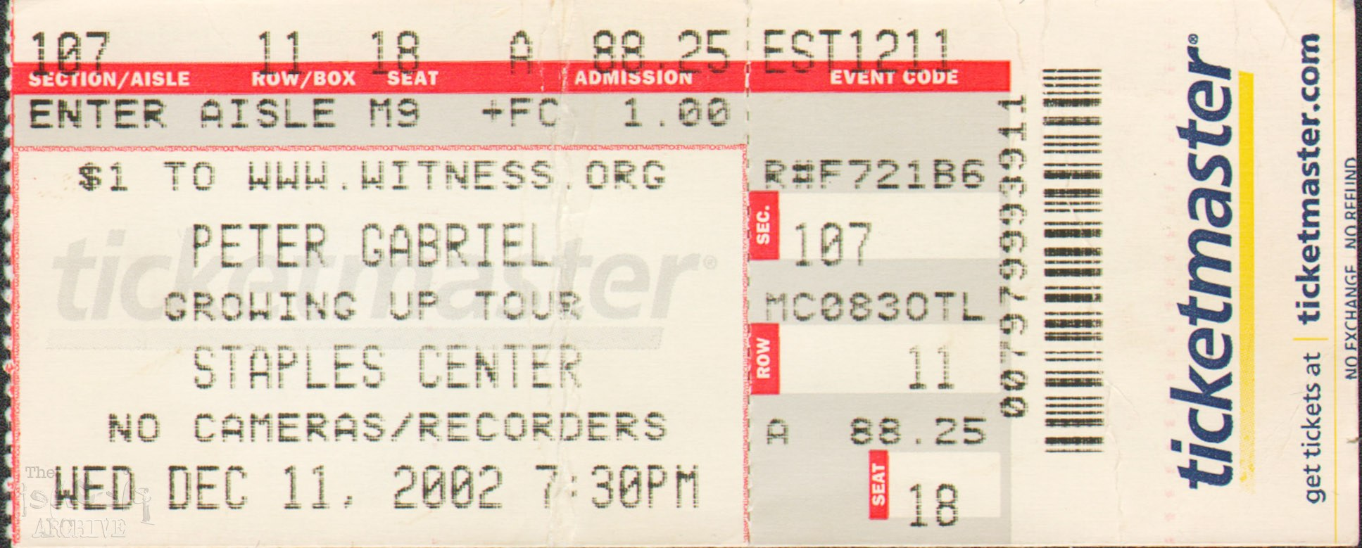 Peter Gabriel Tour Usa