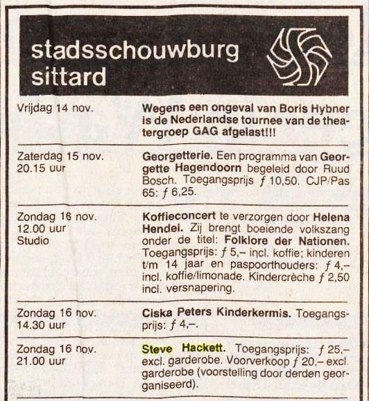 SH sittard advert Limburg