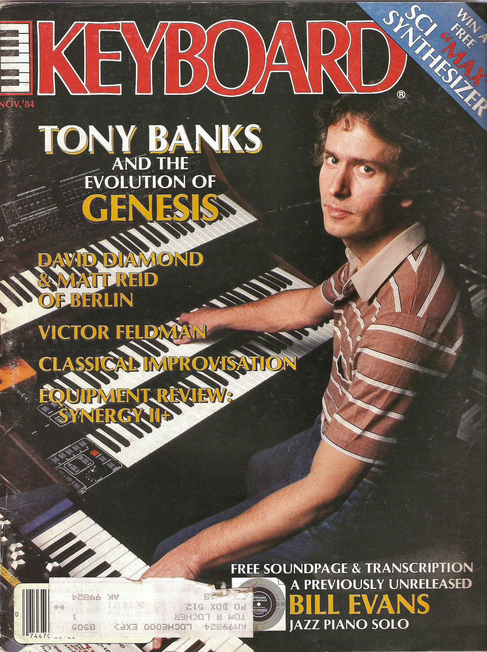 Keyboard Magazine November 1984 Tony Banks Feature The
