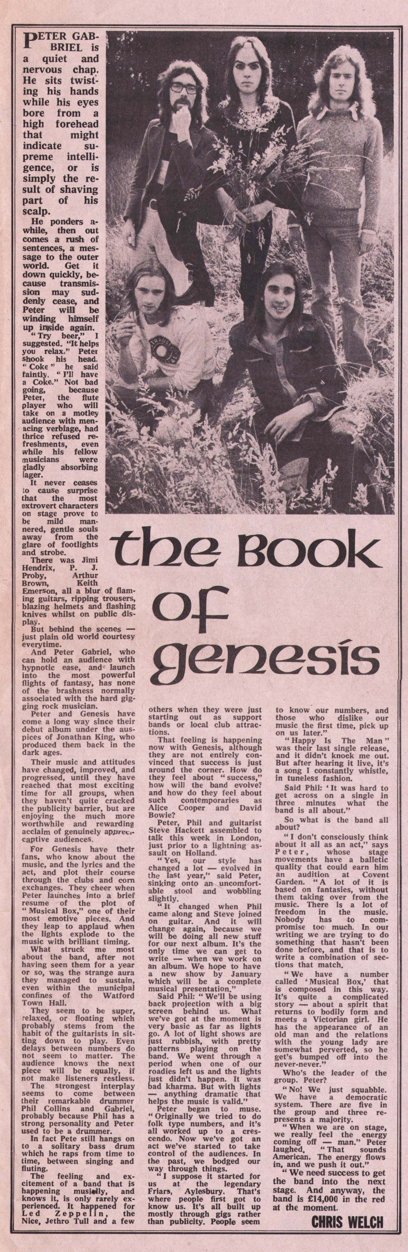 "genesis happy the man single Melody maker 3rd june 1972, in the pop / new singles section, chris welch reviews the genesis single ""happy the man"" the review has been photoshopped to appear as one otherwise you would have seen the bottom two or three sentences at the foot of the page and the remainder of the review at the very top of the page."