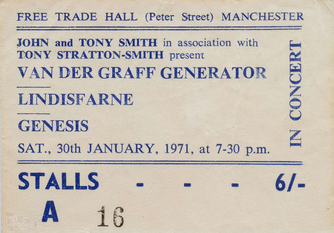 Free Ticket Generator Recommendation Letter For Caregiver Manchester Free  Trade Hall 30th January 1971 Free Ticket  Free Ticket Generator