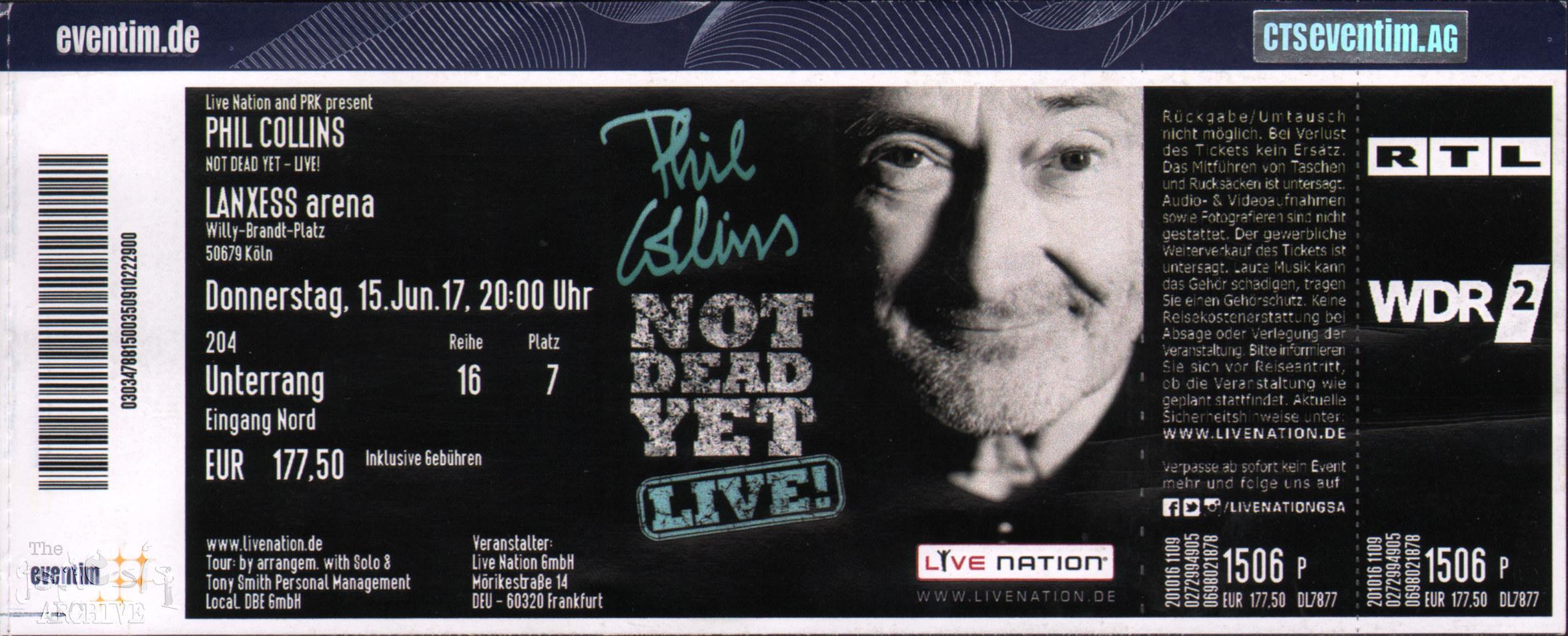 Phil Collins Tickets Köln
