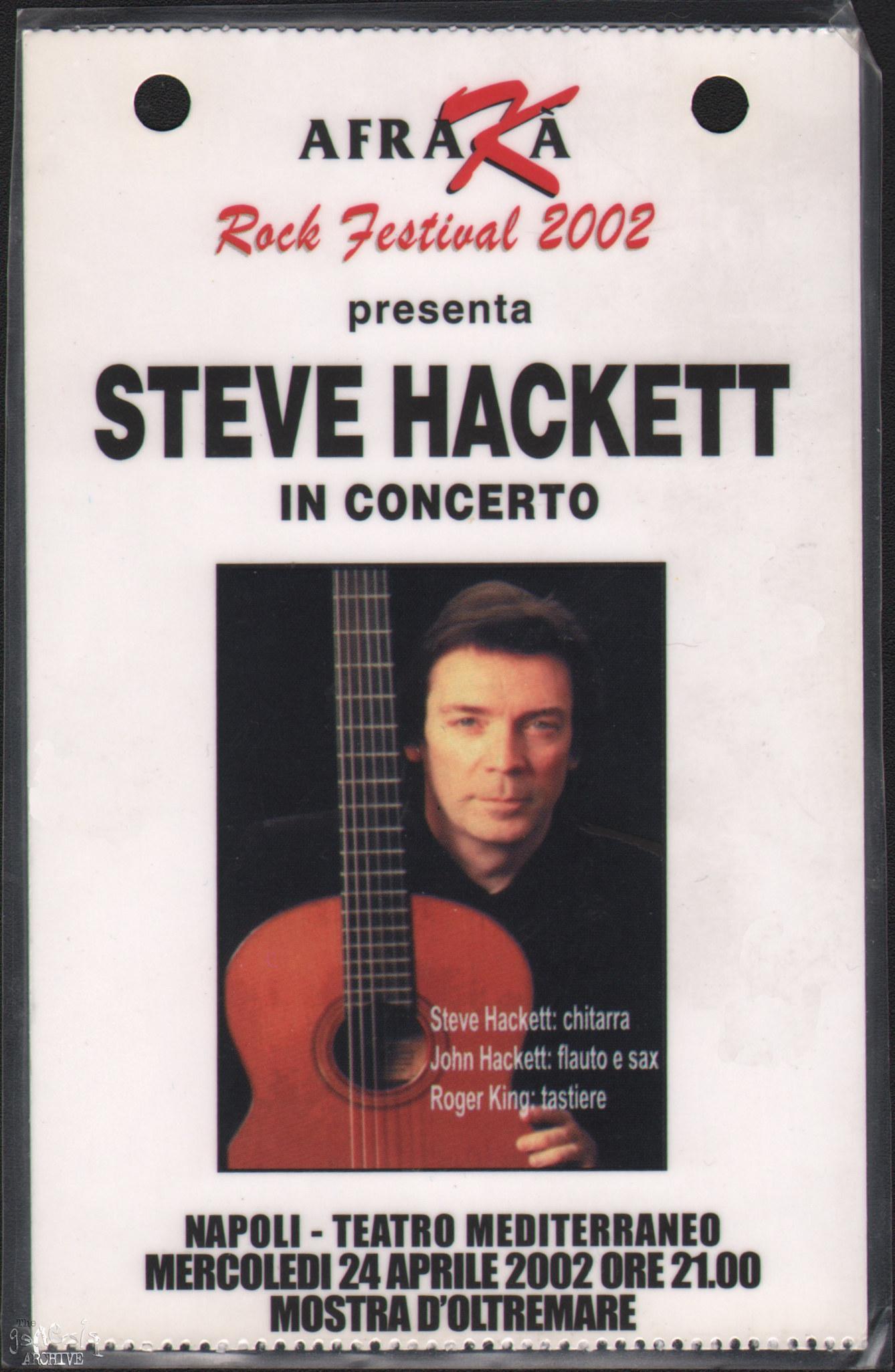 SH Acoustic Tour 2002 – The Genesis Archive  SH Acoustic Tou...